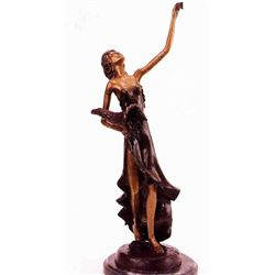 Lady With Cornucopia Bronze Sculpture - Chiparus