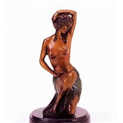 Kneeling Nude  Bronze Sculpture - Preiss
