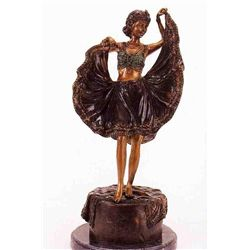 """On A Windy Day"" Bronze Sculpture - Namgreb"