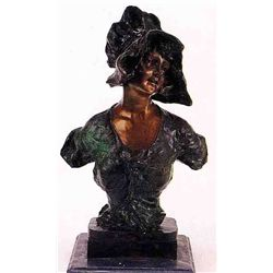 """Myrna"" Bronze Sculpture - Villanis"