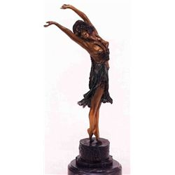"""Swaying Dancer"" Bronze Sculpture - Colinet"