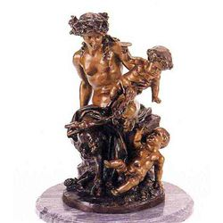 """Female Satyr Group"" Bronze Sculpture - Clodion"