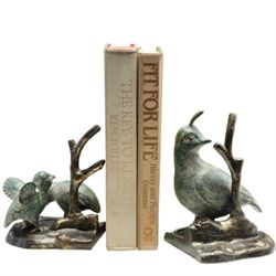 Quail Family Bookends