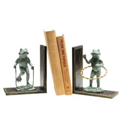 Play Time Frog Bookends