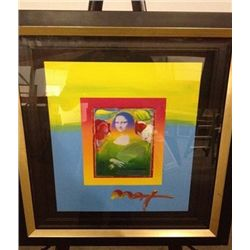 """Mona Lisa"" Peter Max Original Mixed Media"