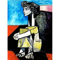"Picasso ""Portrait Of Jacqueline Roque With Arms Crossed"""