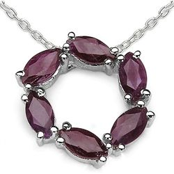 1.20 Carat Genuine Ruby .925 Sterling Silver Pendant