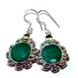 Ruby & Peridot Earrings