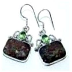 Agate & Peridot Earrings
