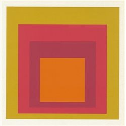 "Albers Silkscreen ""Homage To The Square"" 1977"