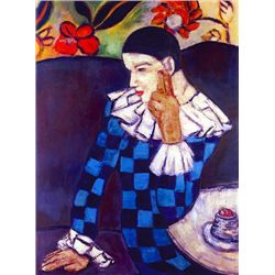 "Picasso ""Harlequin Leaning On His Elbow"""