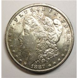 1887-S MORGAN SILVER DOLLAR MS62 NICE!