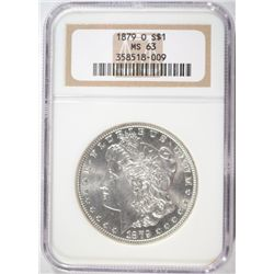 1879-O MORGAN SILVER DOLLAR NGC MS 63