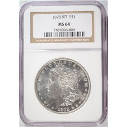 1878 8TF MORGAN DOLLAR NGC MS64
