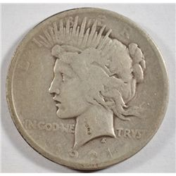 1921` PEACE SILVER DOLLAR IN FINE CONDITION