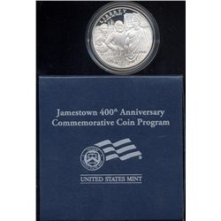 2007 JAMESTOWN PROOF 400Th ANNIVERSARY  COMMEMORATIVE SILVER DOLLAR