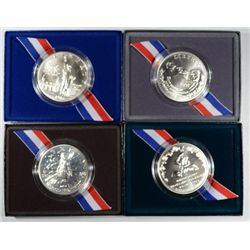 UNCIRCULATED COMMEMORATIVE SILVER DOLLAR LOT,