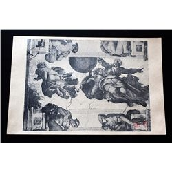 Antique Gallery Stamped Lithograph
