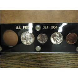 PARTIAL 1954 US SILVER PROOF SET MISSING HALF