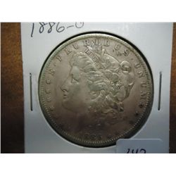 1886-O MORGAN SILVER DOLLAR