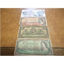 CANADIAN CURRENCY LOT SEE DESCRIPTION