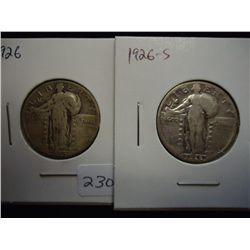 1926 & 26-S STANDING LIBERTY QUARTERS