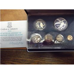 1973 BRITISH VIRGIN ISLANDS 6 COIN PROOF SET