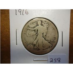 1916 WALKING LIBERTY HALF DOLLAR