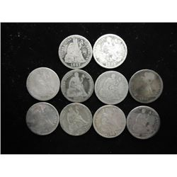10-1880'S SEATED LIBERTY DIMES