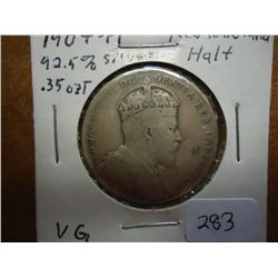 1904-H NEWFOUNDLAND SILVER 50 CENTS