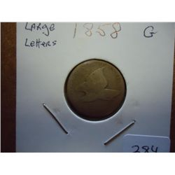 1858 (LARGE LETTER) FLYING EAGLE CENT
