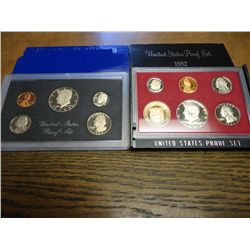 1982 & 83 US PROOF SETS (WITH BOXES)