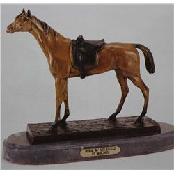 """Horse With Side Saddle"" Bronze Sculpture - Moigniez"