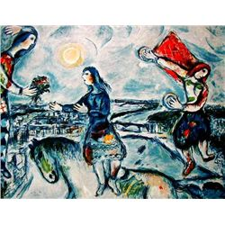 "Marc Chagall ""Lovers Over Paris"""