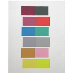 Albers Silkscreen Interaction Of Color, 1963
