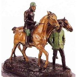 """Before The Race"" Bronze Sculpture - De Vains"