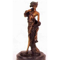 """Victorian Girl"" Bronze Sculpture Inspired - Icart"