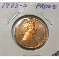 1973-S LINCOLN CENT *RARE PROOF HIGH GRADE*!!