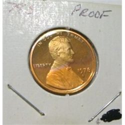 1978-S LINCOLN CENT RED BOOK VALUE IS $3.00 *RARE KEY DATE PROOF HIGH GRADE*!!