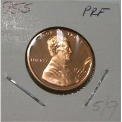 1995-S *HARD TO FIND* LINCOLN CENT RED BOOK VALUE IS $10.00 *RARE KEY DATE PROOF HIGH GRADE*!!