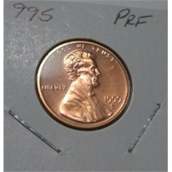 1999-S *HARD TO FIND* LINCOLN CENT RED BOOK VALUE IS $7.00 *EXTREMELY RARE PROOF HIGH GRADE*!!