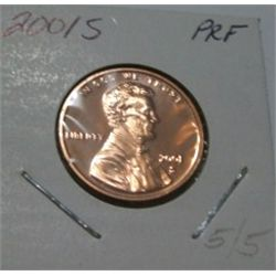2001-S LINCOLN CENT RED BOOK VALUE IS $4.00 *RARE PROOF HIGH GRADE*!!