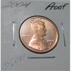 2004-S LINCOLN CENT RED BOOK VALUE IS $4.00 *RARE PROOF HIGH GRADE*!!