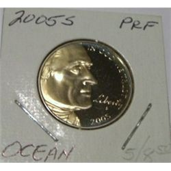 2005-S JEFFERSON NICKEL *OCEAN IN VIEW* REVERSE* RED BOOK VALUE IS $6.00 *VERY RARE PROOF-65 HIGH GR
