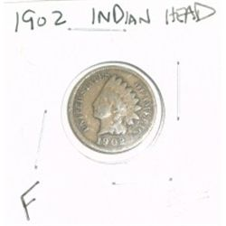 1902 INDIAN HEAD PENNY RED BOOK VALUE IS $5.00 *NICE COIN - FINE GRADE*!!