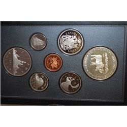 1985 Canada Double Struck Mint Foreign Proof Set With Commemorative Canada National Parks $1; Royal