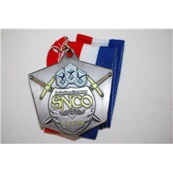 SNCO Induction Ceremony Military Medal With Cloth Strap Necklace; EST. $5-25