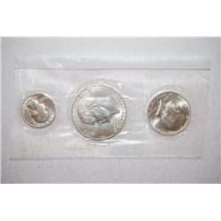 1976-S US Bicentennial Three-Coin Silver Set; 40% Silver; UNC; Eisenhower, Kennedy & Washington; EST