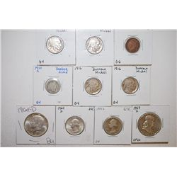 Various US Coins; 1906 Indian Head One Cent; G6, 1916 Buffalo Nickel & 1916 (3) Buffalo Nickel; G4,