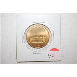 1919 Winton Six Collectible Automobile Token; EST. $3-6